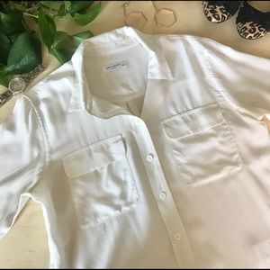 Equipment Silk Button Down Blouse